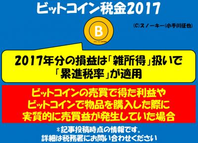 ビットコイン税金2017