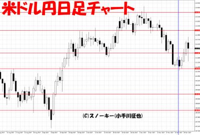 20171202さきよみLIONチャート検証米ドル円日足