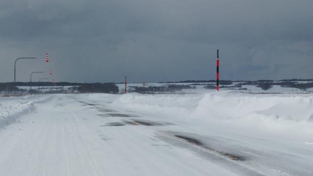 冬のサロベツ原野