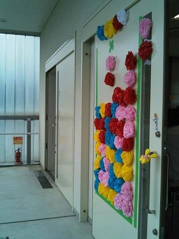 教室前の装飾