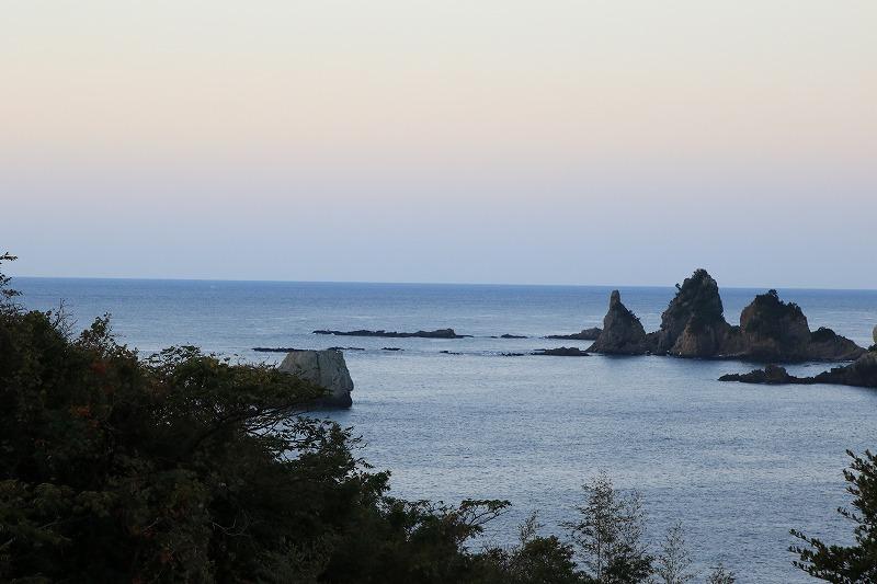 見晴らし台の海
