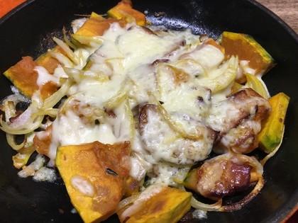 ジャーマンカボチャのチーズ焼き