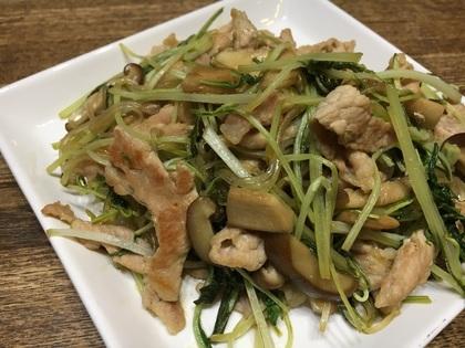 豚肉と白菜と春雨の炒め物