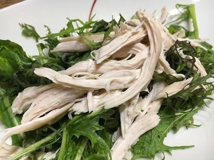 蒸し鶏とミックス野菜のサラダ