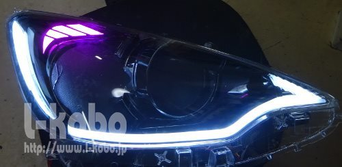 アクアヘッドライト加工1