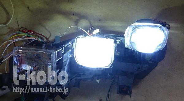 60ハリアープロジェクター2灯点灯