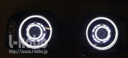 ジムニーヘッドライト加工2