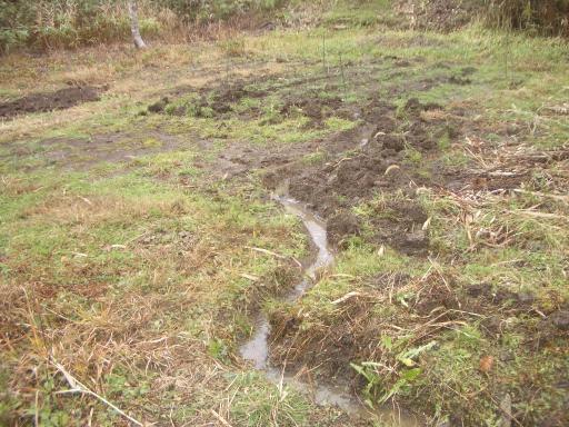 排水路掘削