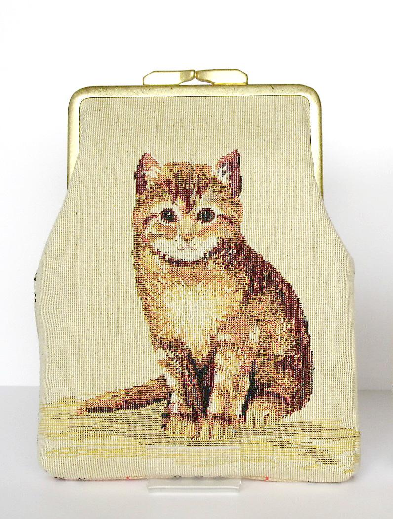 ゴブラン織りの子猫のがま口2