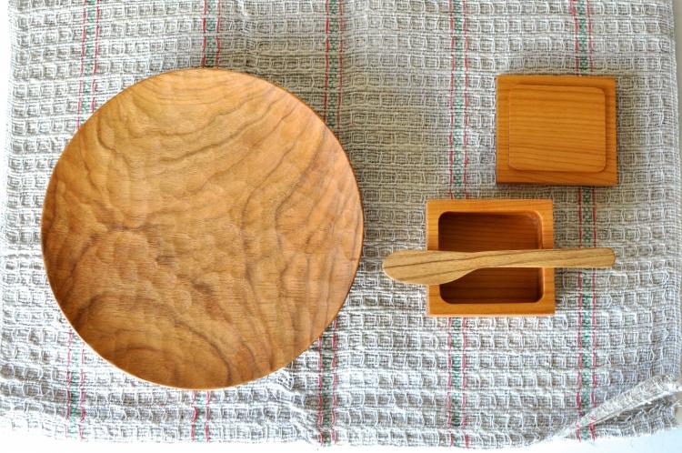 山口和宏/⚪︎皿210×33、小箱、バターナイフ