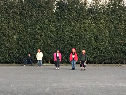 公園で練習