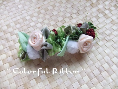 WinterCottonFlowerwithRoseBarrette.jpg