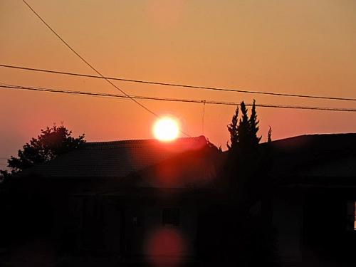 単なる夕日の風景