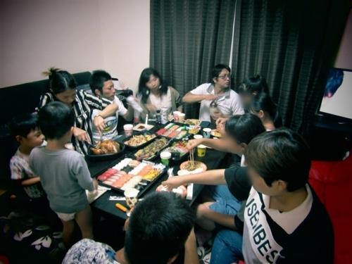 娘の家で夕飯