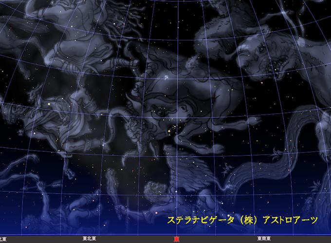 星図2017年10月21日星座絵