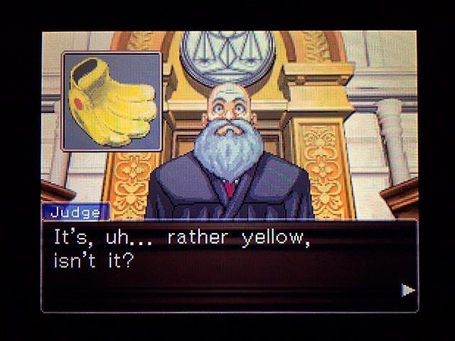 逆転裁判2 北米版 Yellow Glove45