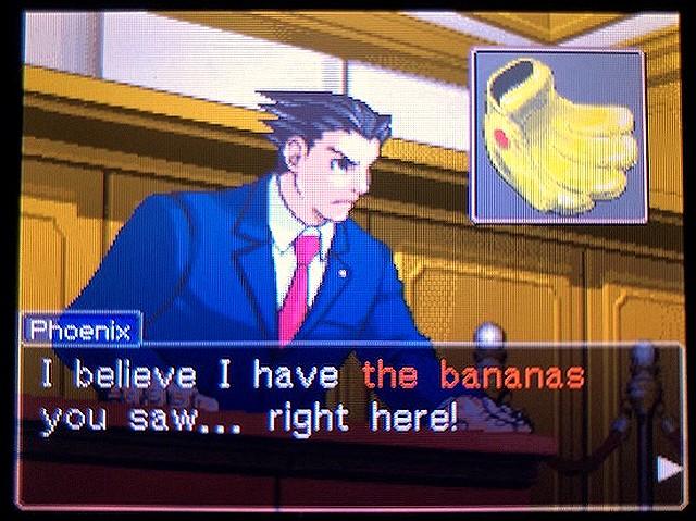 逆転裁判2 北米版 The banana18