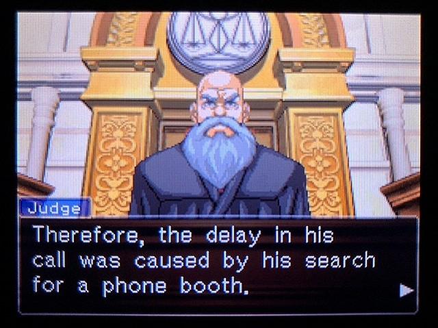 逆転裁判2 北米版 Where was a telephone booth?15