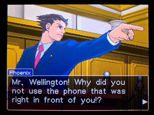 逆転裁判2 北米版 Where was a telephone booth?37