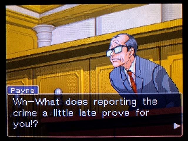 逆転裁判2 北米版 ウェリントンの15分1