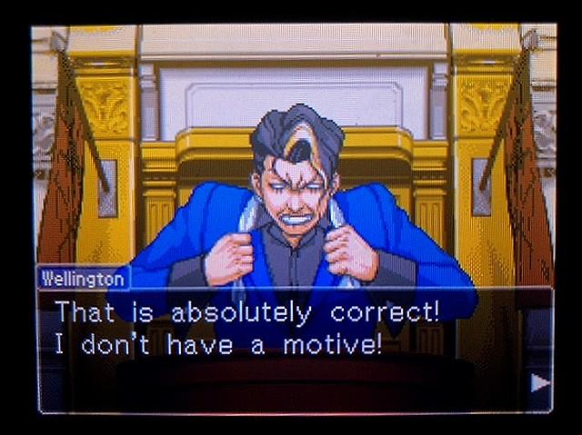 逆転裁判2 北米英語版 ウェリントンの動機4