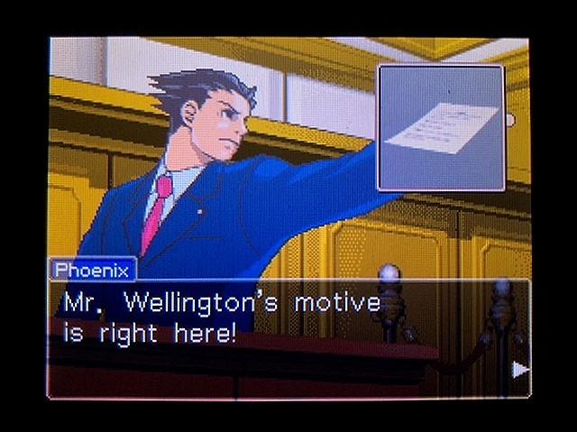 逆転裁判2 北米英語版 ウェリントンの動機14