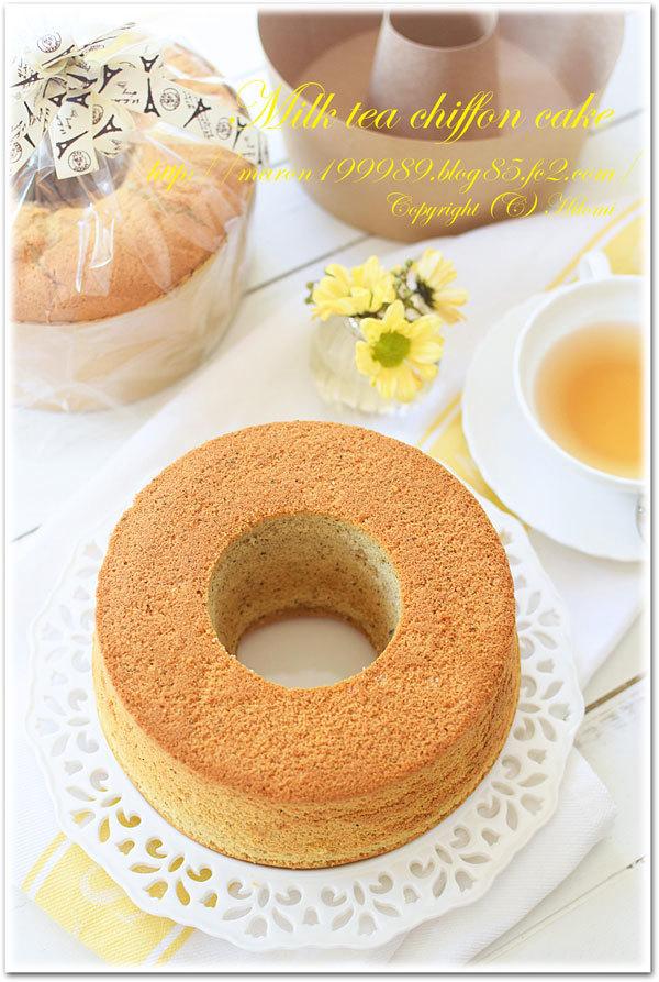 ミルクティーシフォンケーキ