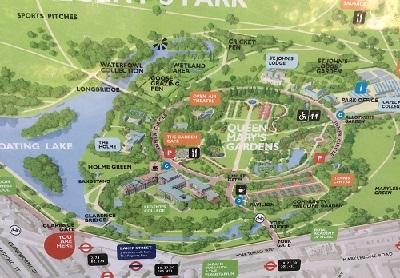 ロンドンある公園の地図