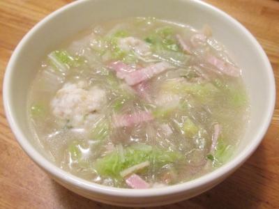 カワハギ団子の春雨スープ3