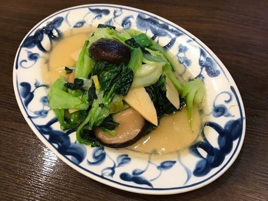 青菜と椎茸の炒め物