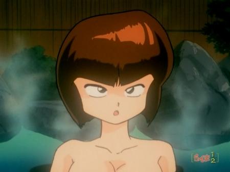 らんま1/2TV版 天道なびきの胸裸ヌード温泉入浴シーン295