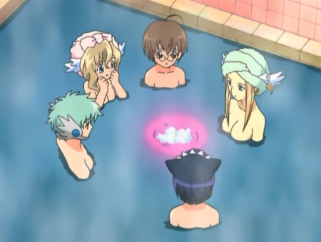 円盤皇女ワるきゅーレ 十二月の夜想曲 メームと時野リカとライネの胸裸ヌード銭湯入浴シーン32
