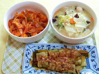 171003_4893 本日の料理・エビチリ・八宝菜・焼き茄子VGA