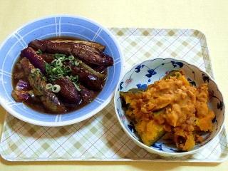 171109_4933 茄子の煮浸し・かぼちゃのそぼろ煮VGA