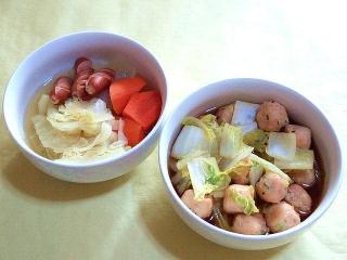 171207_4998 ゴロゴロ野菜のポトフ・エビ団子と白菜のふくめ煮_VGA
