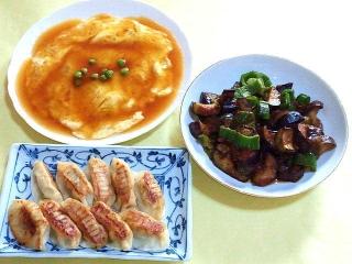 171207_4999 かに玉・茄子の味噌炒め・焼き餃子_VGA