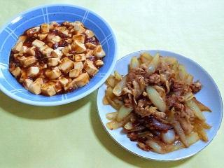 171211_5000 麻婆豆腐・豚肉と玉葱の生姜炒め_VGA
