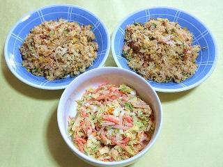 171218_5011 カニカマ炒飯2皿・コールスローサラダ_VGA