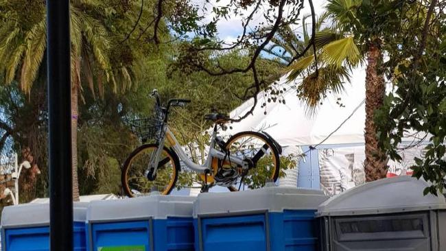 obike on the bin
