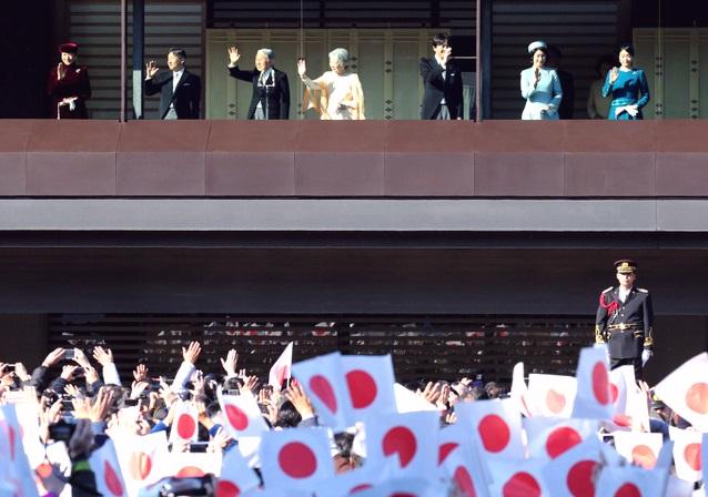 12月23日 朝日 天皇誕生日一般参賀