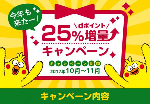 dポイント交換25%増量キャンペーン
