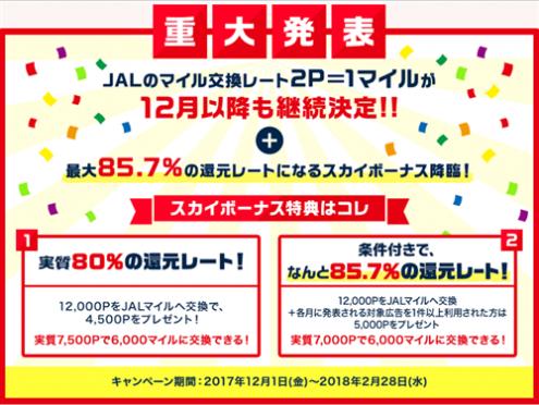 JALのマイル交換ドリームキャンペーン