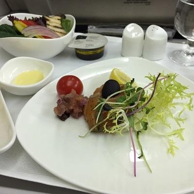 アシアナ航空ビジネスクラス機内食①