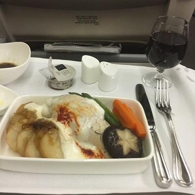 アシアナ航空ビジネスクラス機内食②