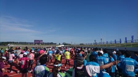 北上マラソン10キロスタート地点