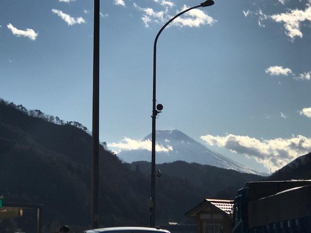 2017 12月6日 御神事 移動中の富士山