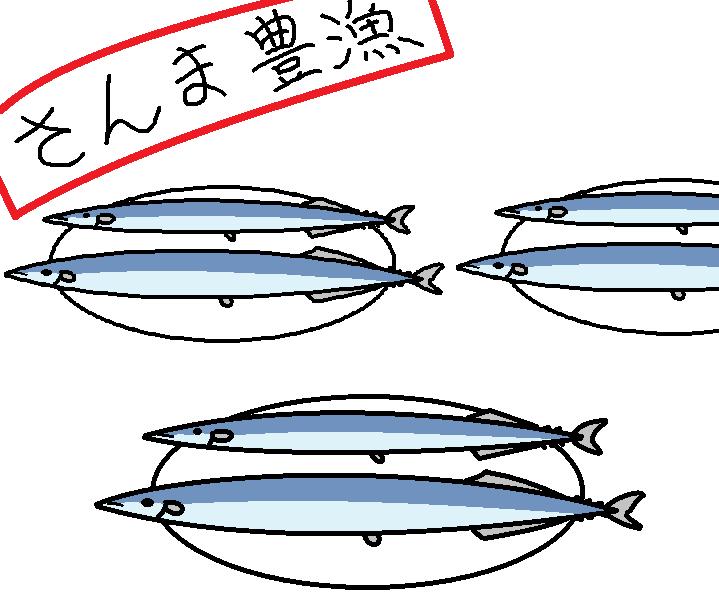 433つちのこ秋刀魚が豊漁1