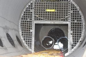上流井戸内の水はバケ内から