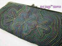 緑 セキシルヌビ がま口財布