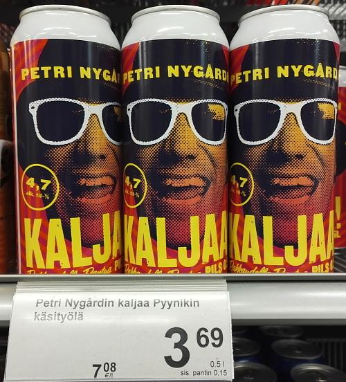 フィンランド ラッパー Petri Nygård ビール Kaljaa
